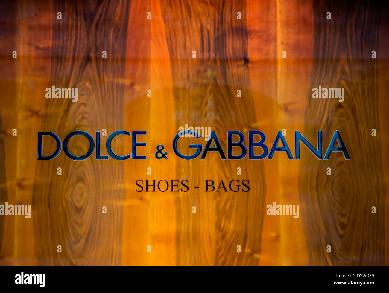 Dolce & Gabbana shop - Stock Image