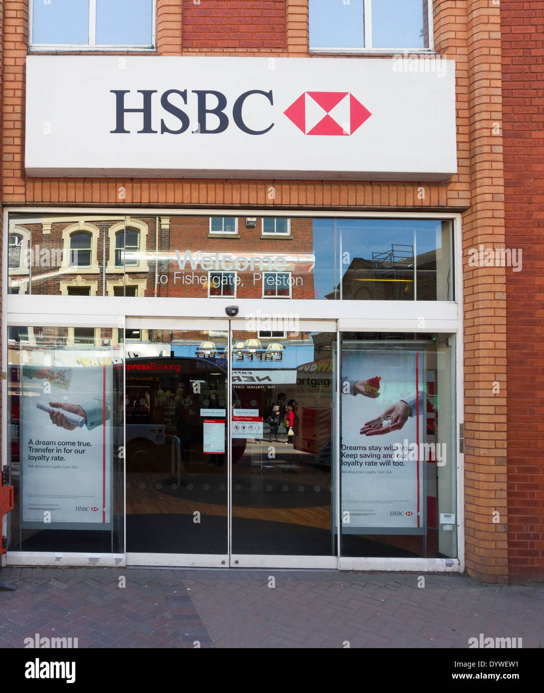 HSBC bank branch Preston Stock Photo: 68787293 - Alamy