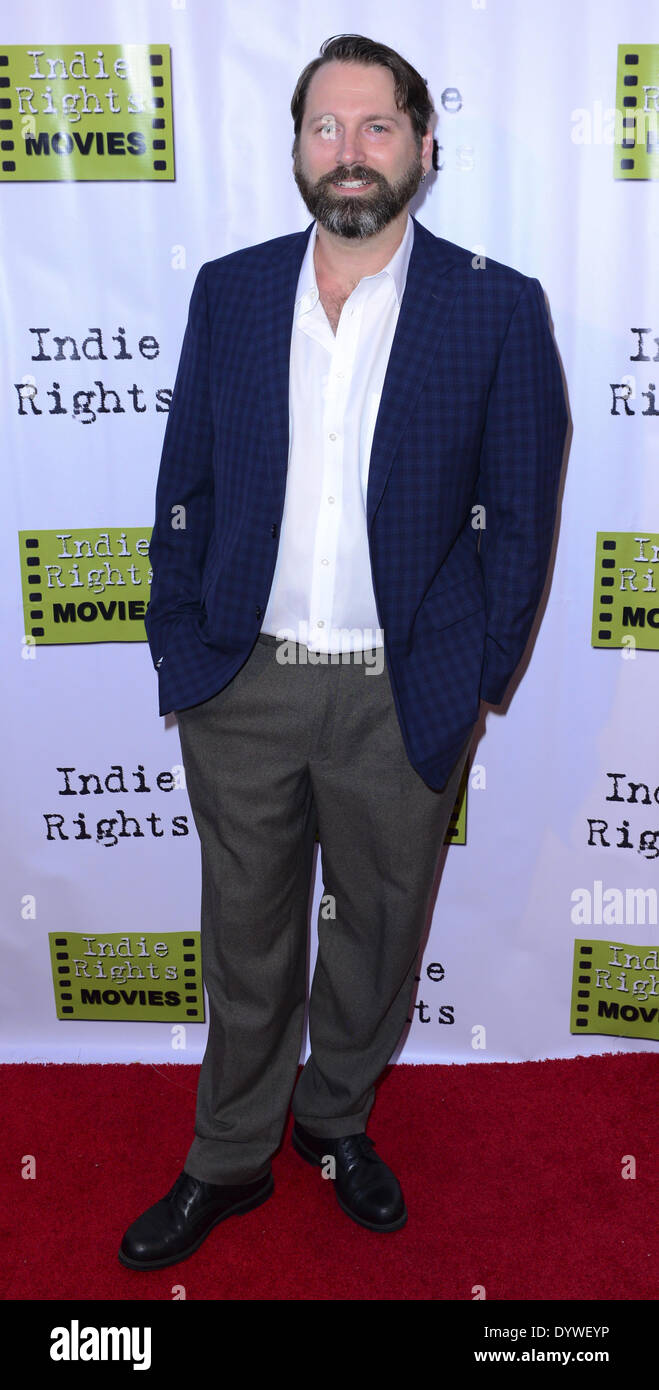Hollywood, California, USA. 18th Apr, 2014. Michael Fountain arrives at Hollywood premiere for the indie favorite, ''The Fray, '' at the Arena Cinema on Friday evening. © David Bro/ZUMAPRESS.com/Alamy Live News - Stock Image