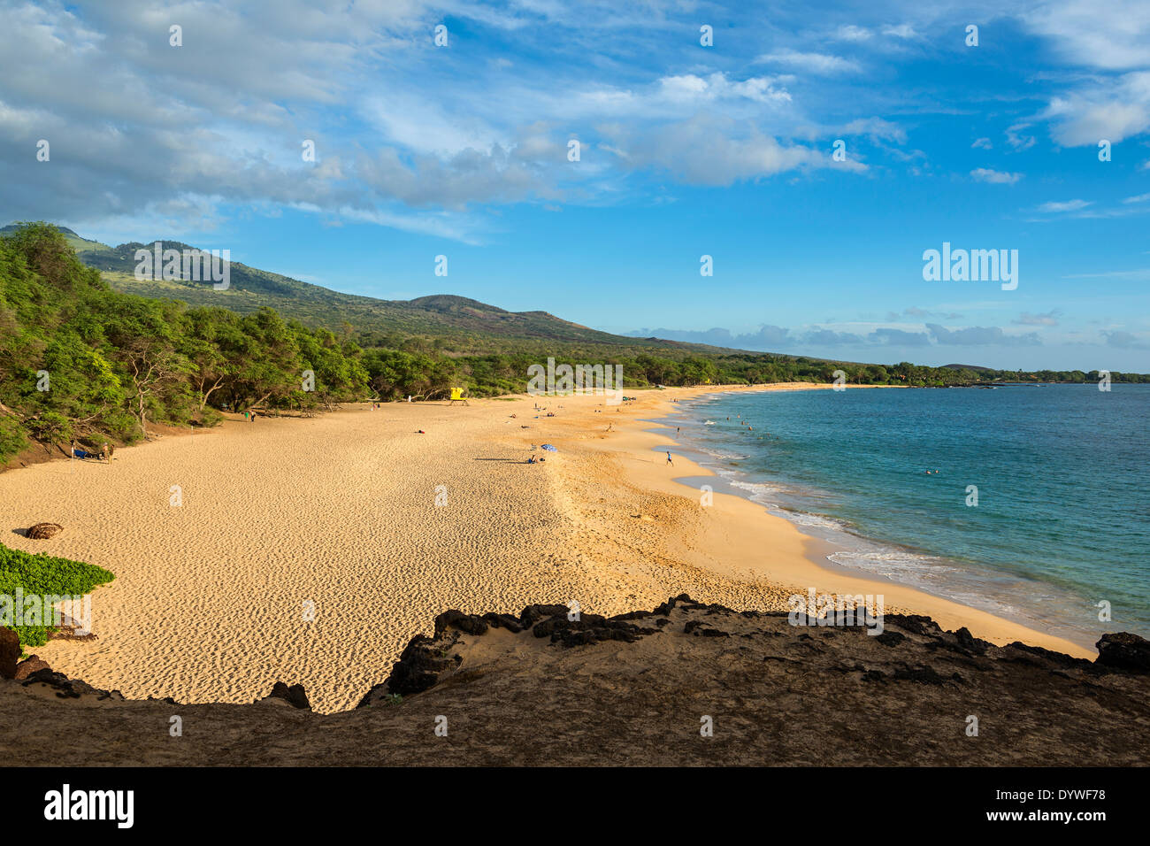 The famous and pristine Big Beach in Maui. - Stock Image