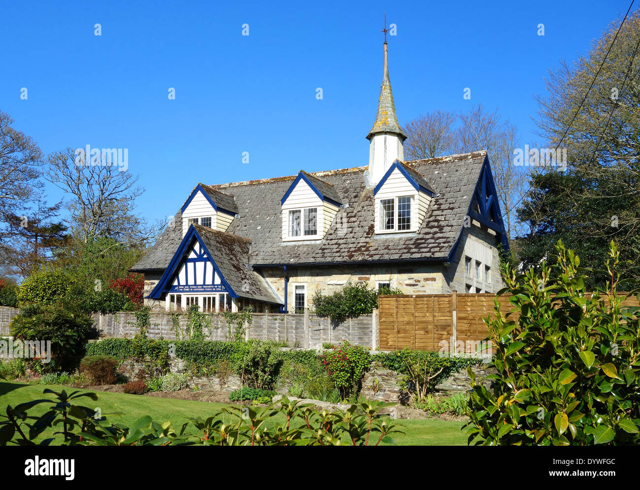an old chapel converted into a home near truro in cornwall, uk - Stock Image