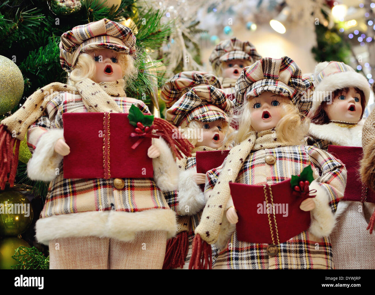 christmas carolers decoration stock image