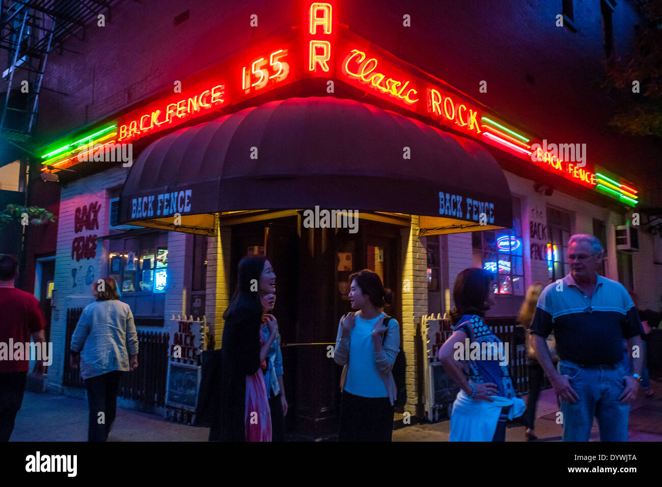 New York, NY The Back Fence, a music venue in Greenwich Village ©Stacy Walsh Rosenstock/Alamy - Stock Image