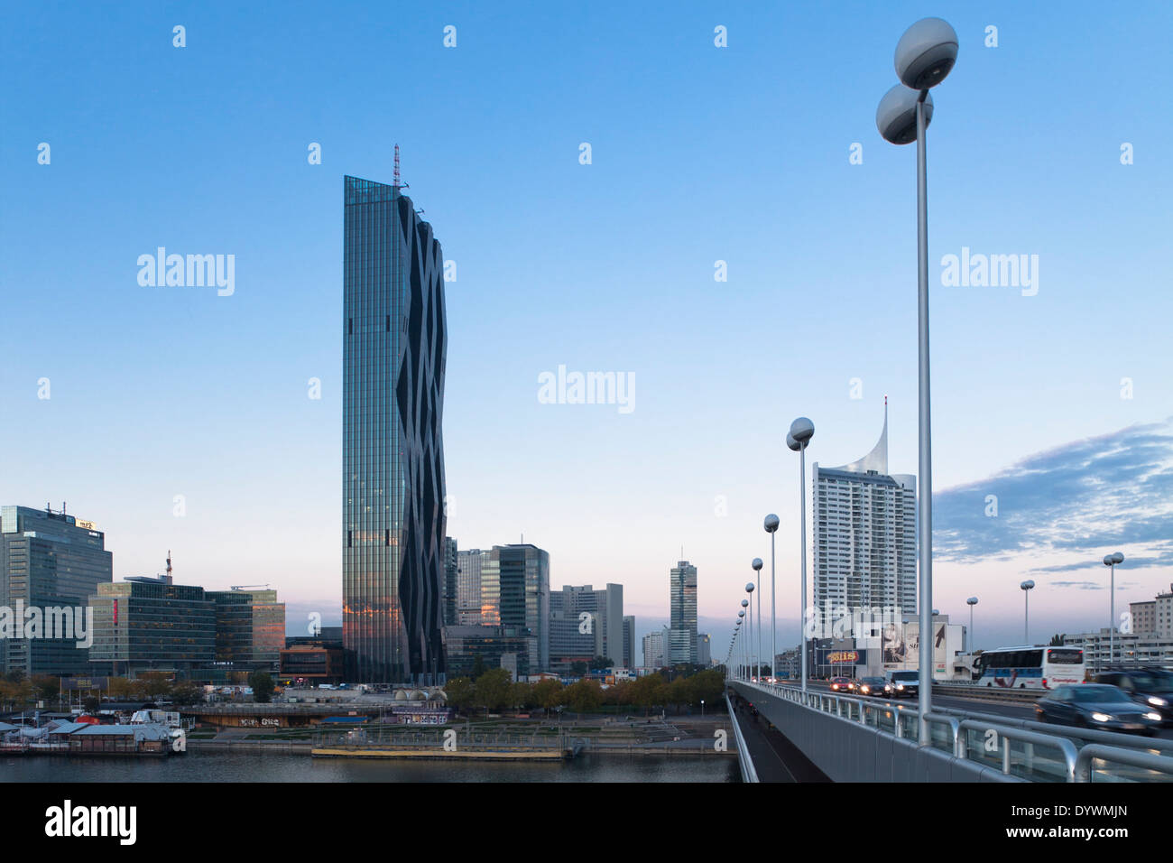 DC Tower, Danube city, Vienna, Austria - Stock Image