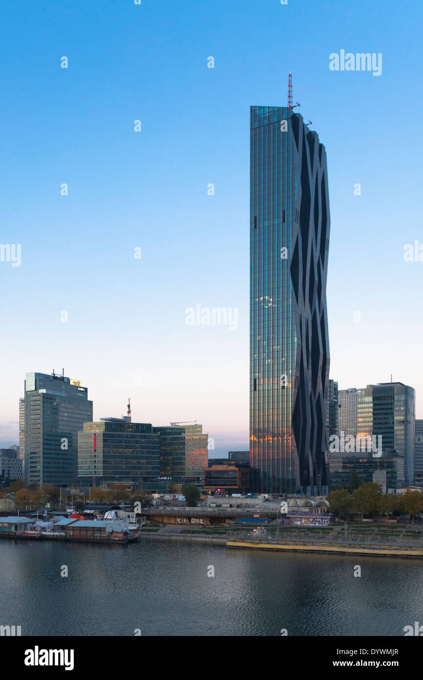 DC Tower, Danube city, Vienna, Austria Stock Photo