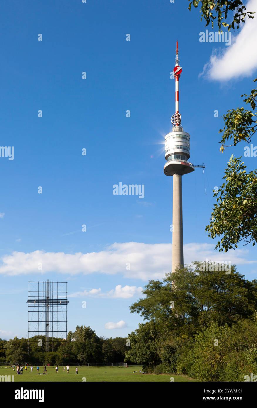 Danube Tower, Danube Park, Vienna, Austria - Stock Image