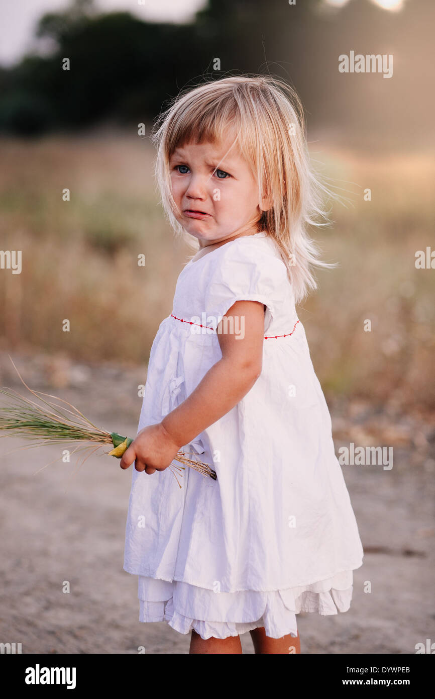Little crying girl - Stock Image