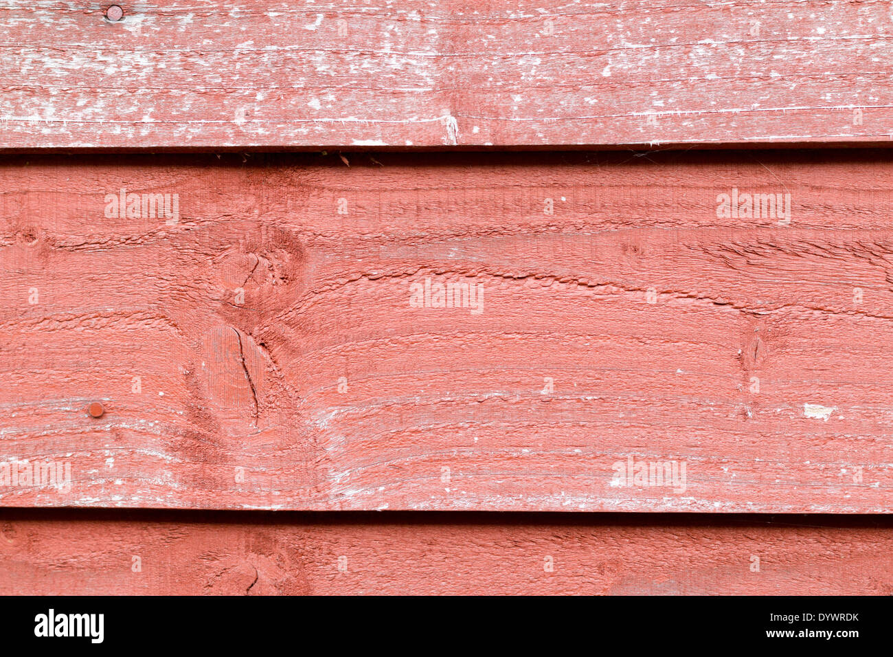 Overlap weathered wooden shed - Stock Image