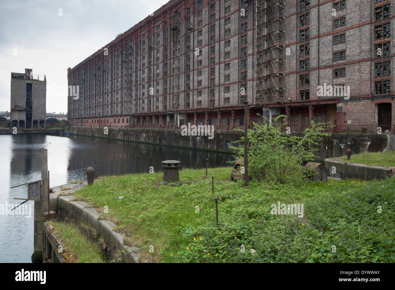 The Stanley Dock Tobacco Warehouse, built in 1901, is the world's largest brick warehouse and is grade II listed. Stock Photo