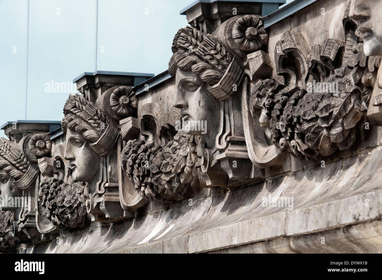 Germany, Berlin, Bundestag, German Parliament Building, Reichstag - Stock Image
