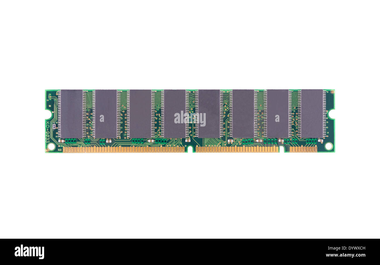 Computer memory (RAM) on a white background - Stock Image