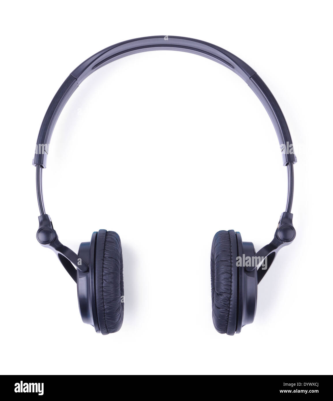 Headphones on a white background - Stock Image