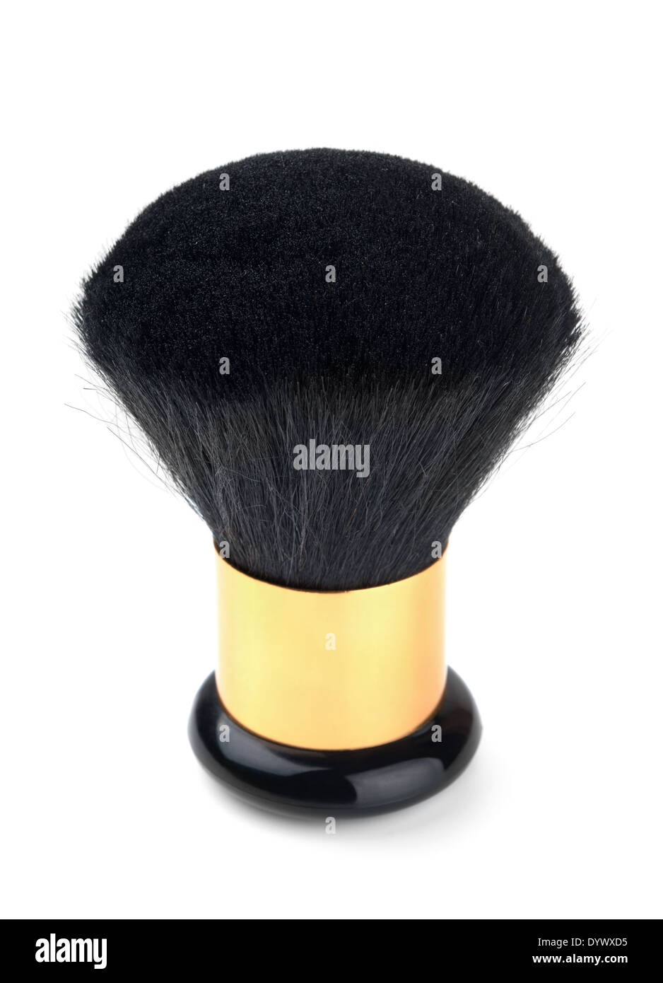 Powder brush on a white background - Stock Image