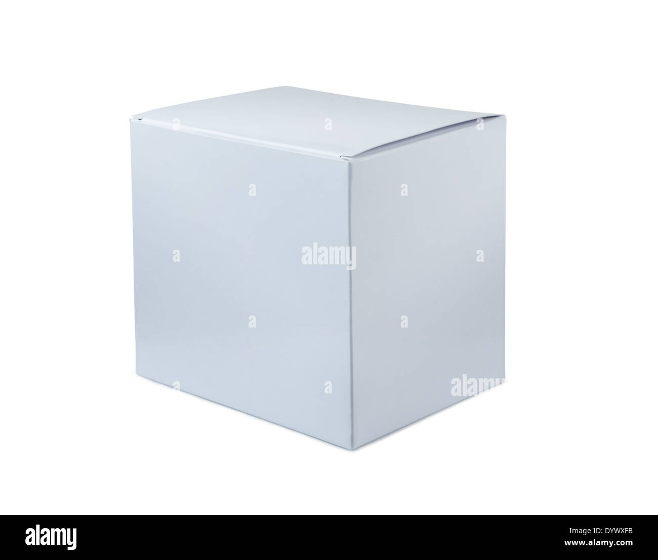 White box on a white background - Stock Image