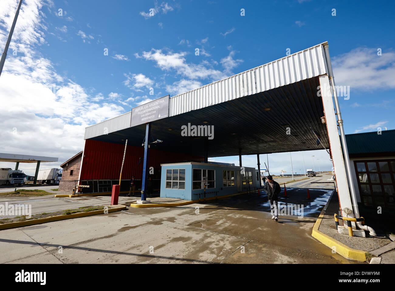 argentine border post san sebastian Tierra Del Fuego Argentina - Stock Image