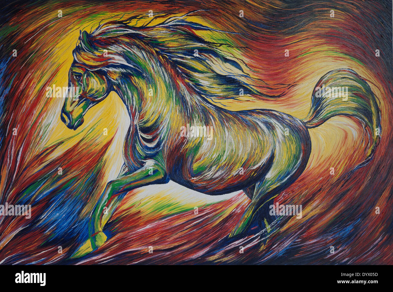 Abstract Horse Painting Stock Photo Alamy