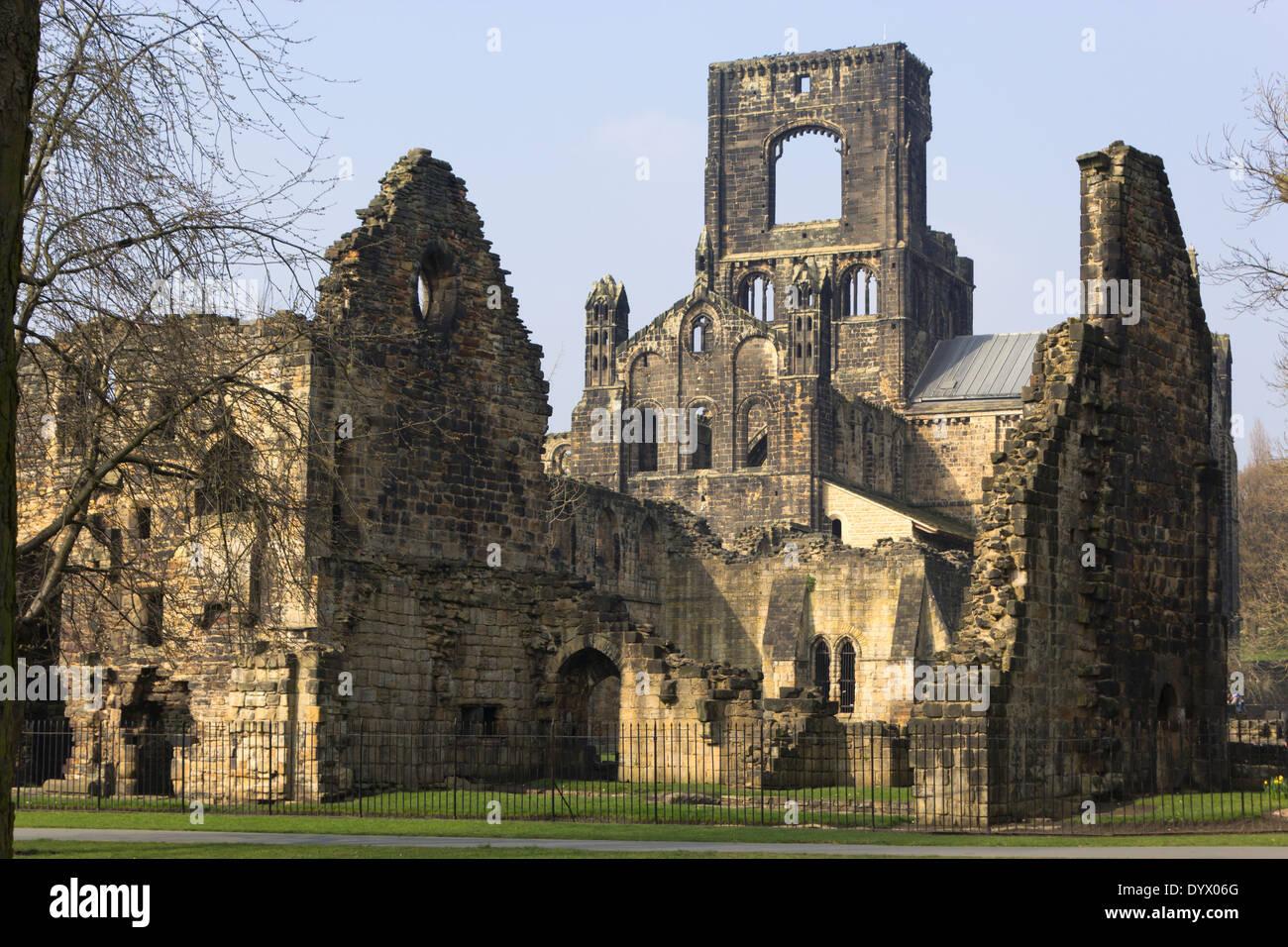 Kirkstall Abbey, Kirkstall , Leeds, West Yorkshire, England. A 12th century ruined Cistercian monastery. - Stock Image