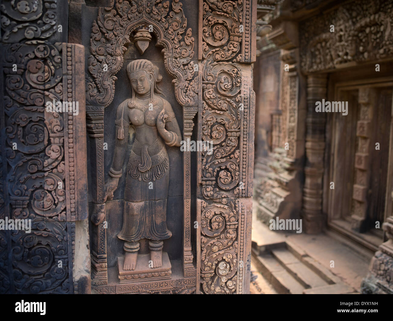 Banteay Srei Hindu Temple dedicated to Shiva. Siem Reap, Cambodia - Stock Image