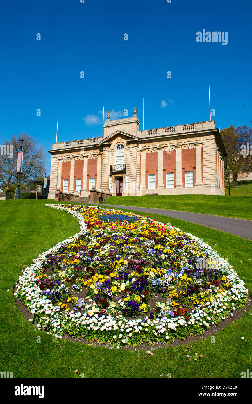 The Usher Gallery and Temple Gardens in Lincoln City Centre, Lincolnshire England UK - Stock Image