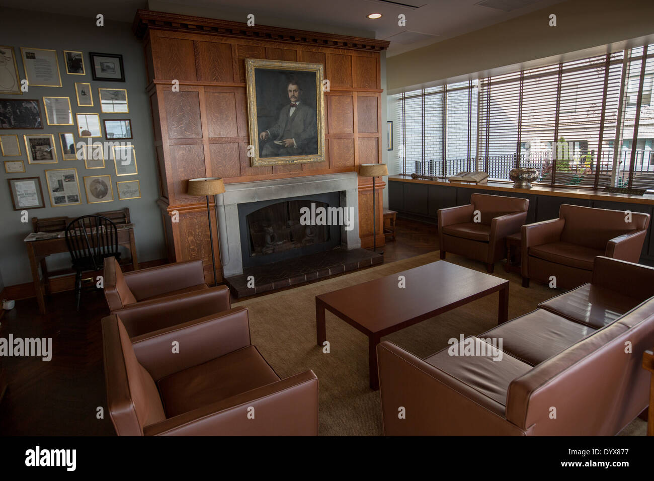 Cliff Dwellers Club interior in Chicago, Illinois USA - Stock Image