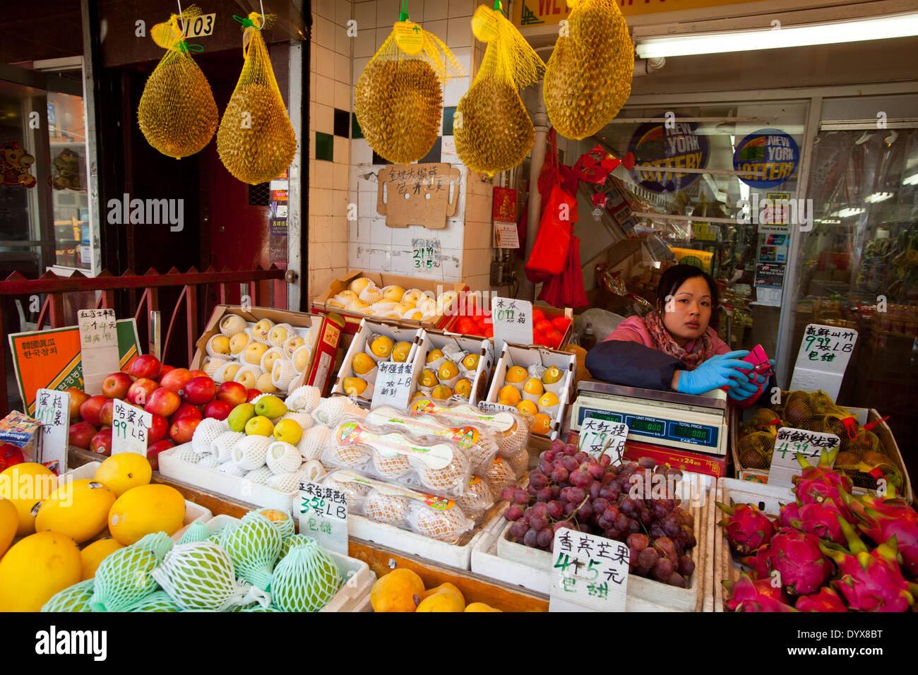 Vegetable Market Chinatown Manhattan New York City New York Stock Photo Alamy