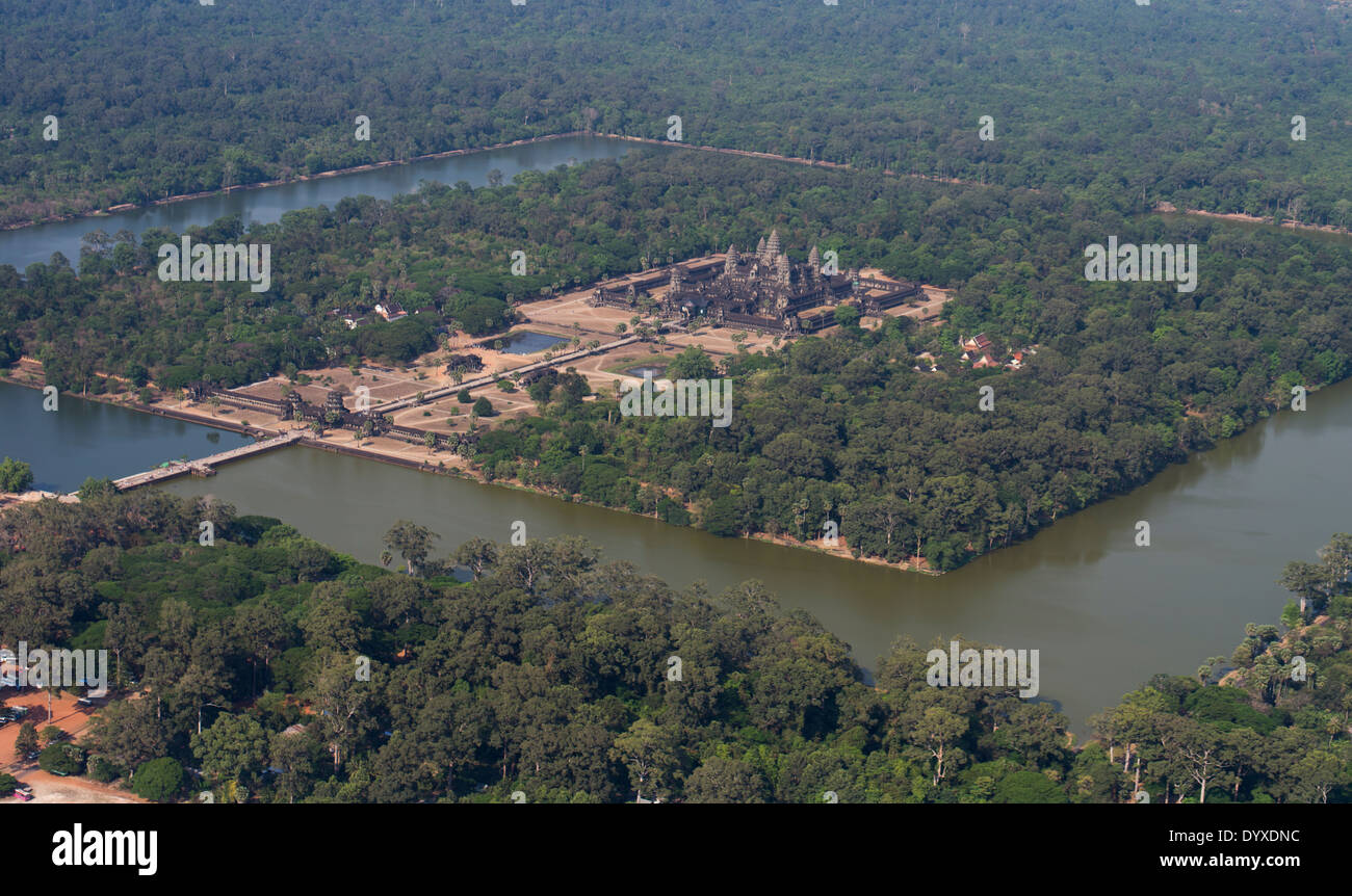 Aerial Photos of Angkor Wat - Siem Reap, Cambodia - Stock Image
