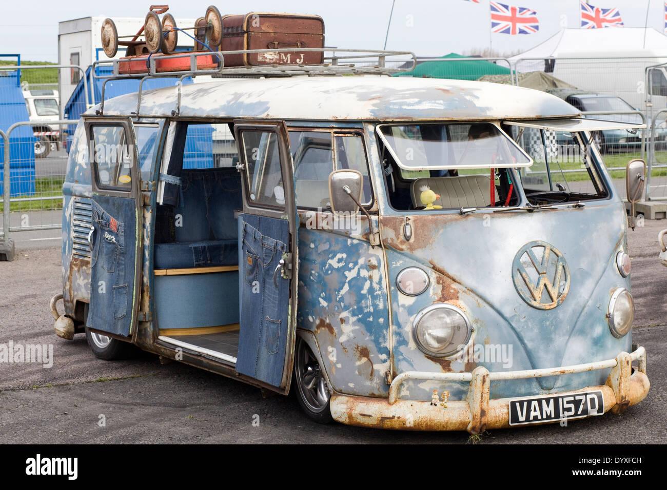 Camper Van Buy >> Rat style VW Volkswagen camper van Stock Photo: 68809681 - Alamy