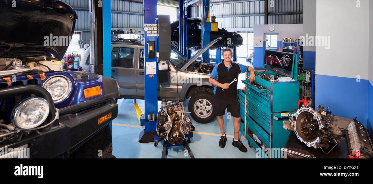 Mechanic workshop, Australia - Stock Image