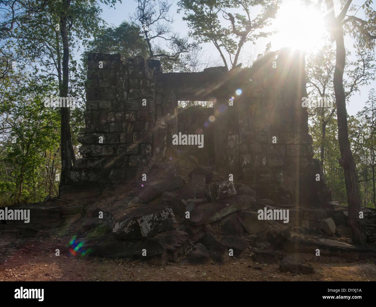Koh Ker Temple 127 NE of Siem Reap, Cambodia - Stock Image