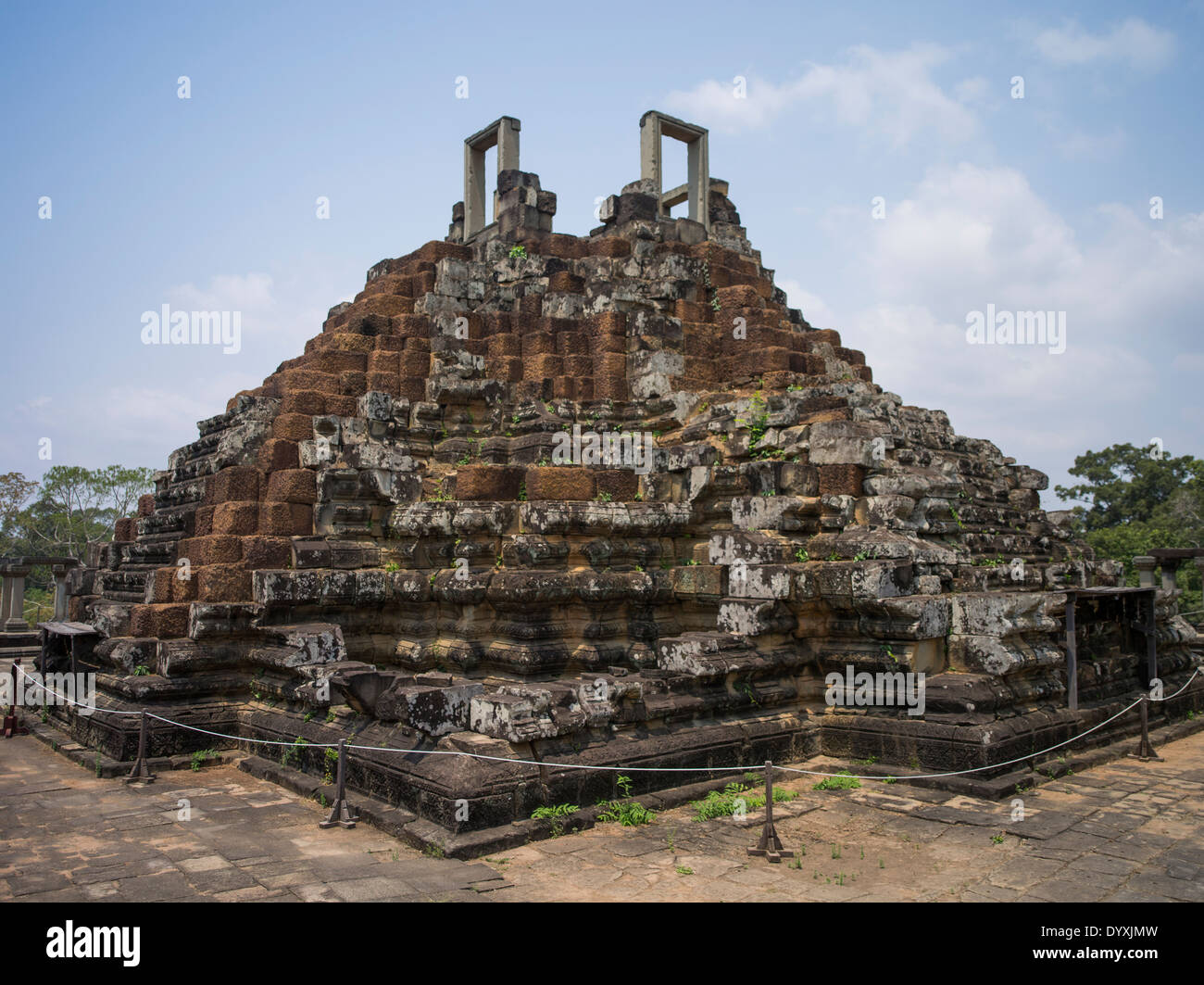 Baphon temple within the walls of Angkor Thom, Siem Reap, Cambodia - Stock Image