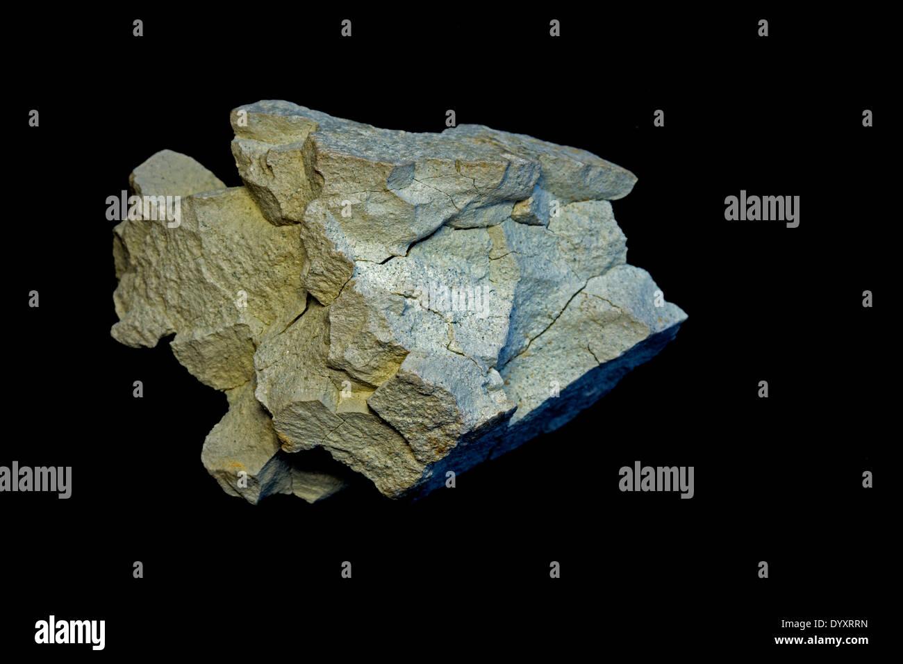 Bentonite, clay, Aberdeen, Mississippi, specimen courtesy of USGS - Stock Image