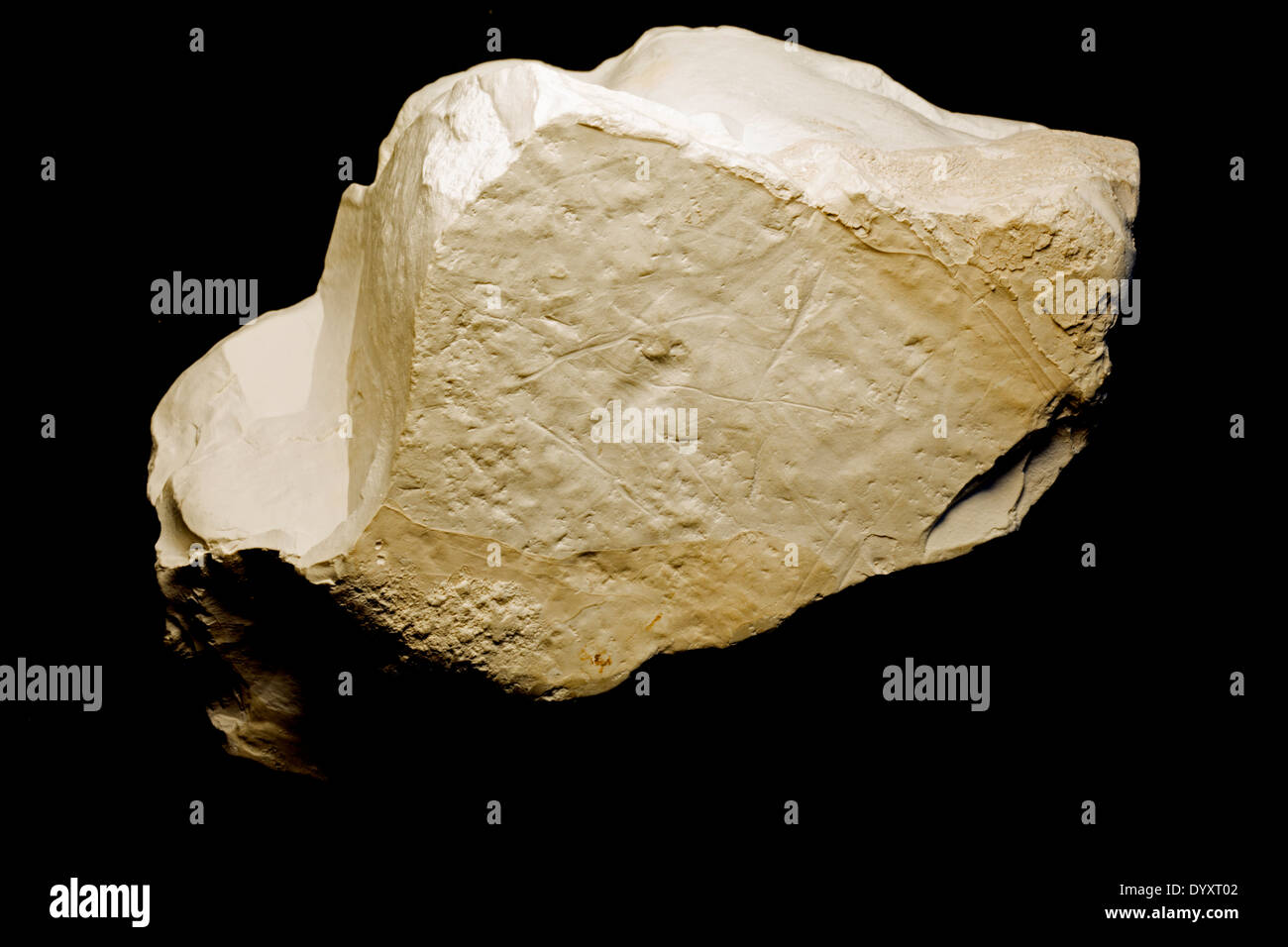 Kaolin, China clay, Geogia, USA, Specimen courtesy of USGS - Stock Image