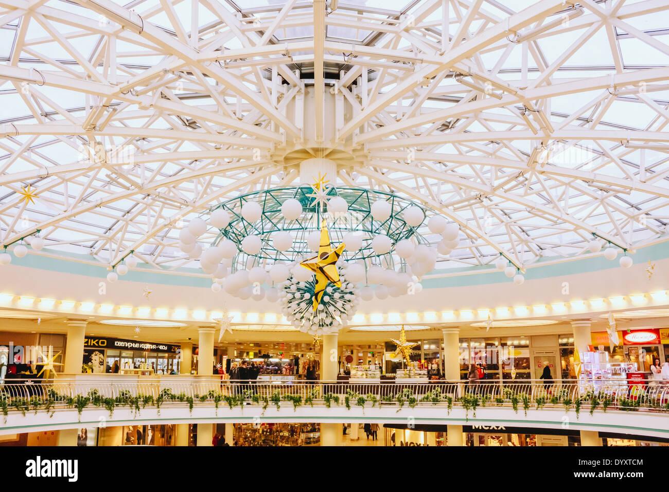 'Stolitsa' is a major shopping center in Belarussian capital Minsk. - Stock Image