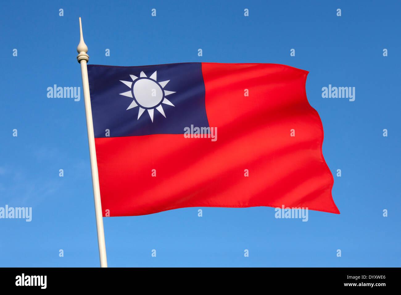 Flag of Taiwan - Stock Image