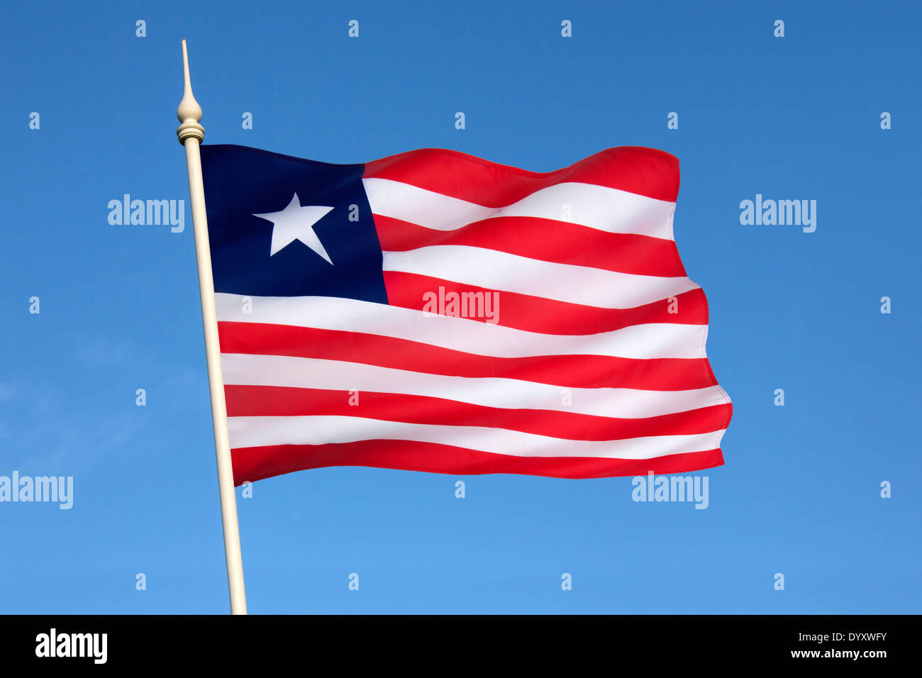 The Liberian flag - Stock Image