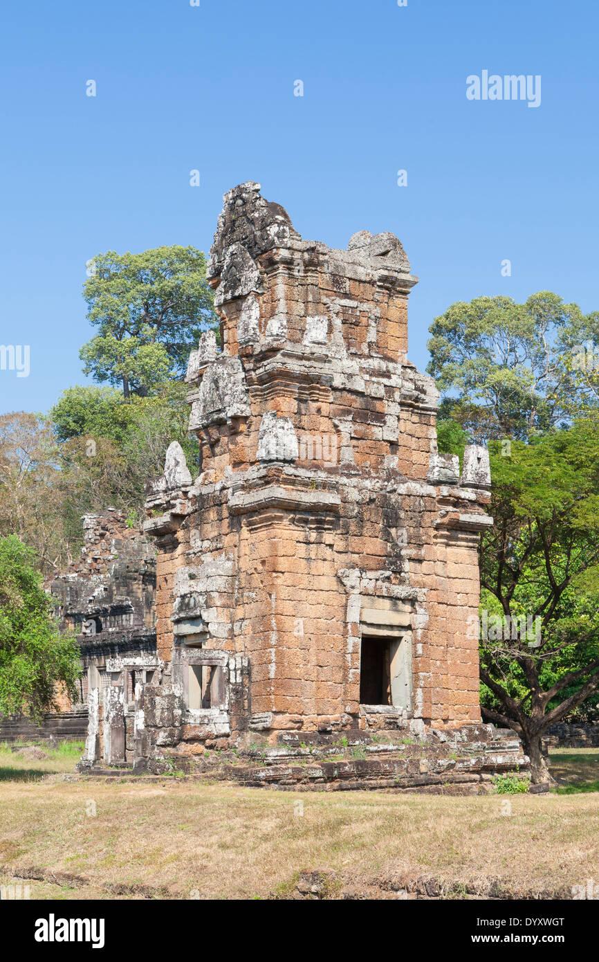 Prasat Suor Prat towers, Angkor Thom, Cambodia - Stock Image