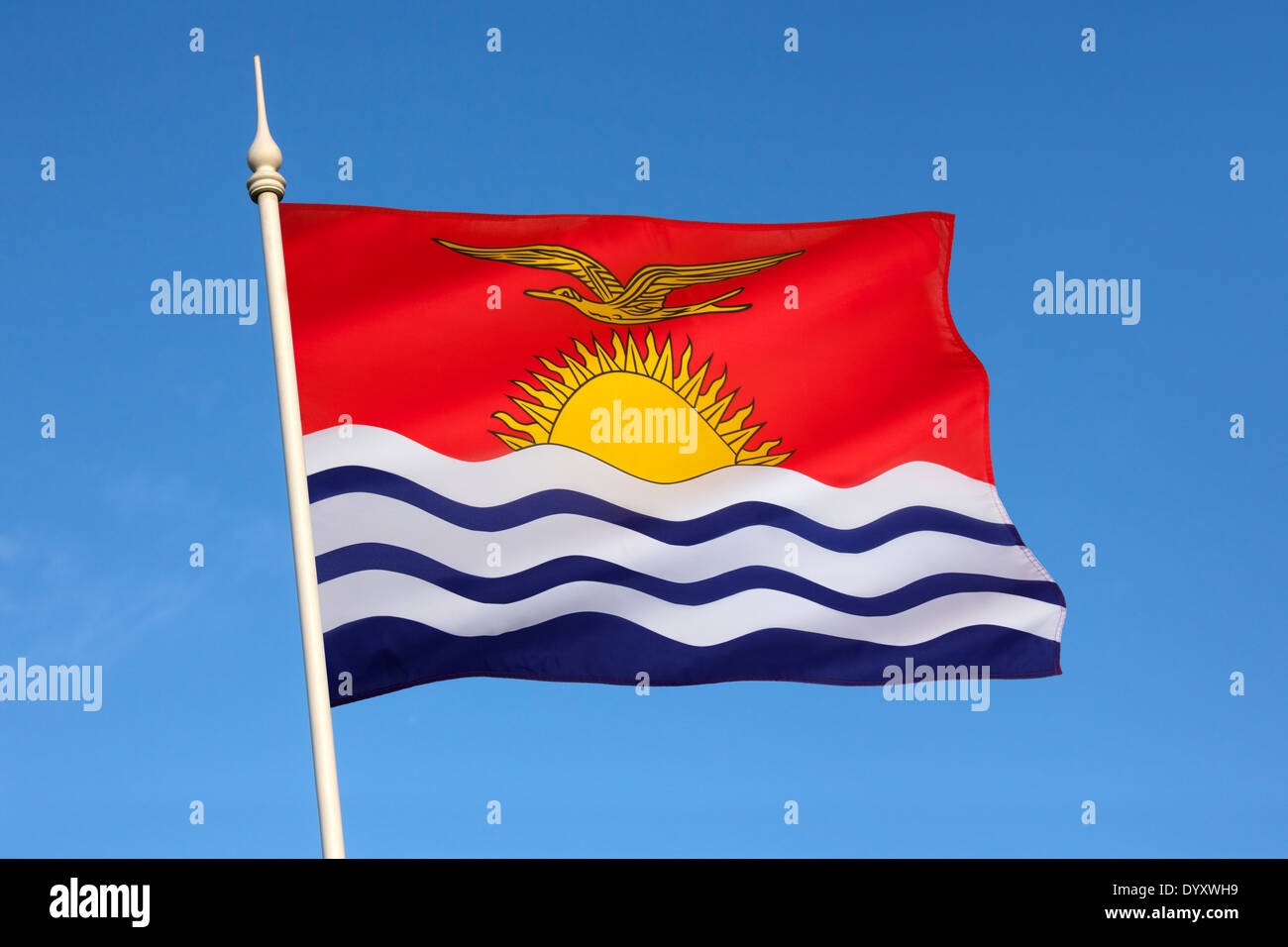 The national flag of Kiribati Stock Photo