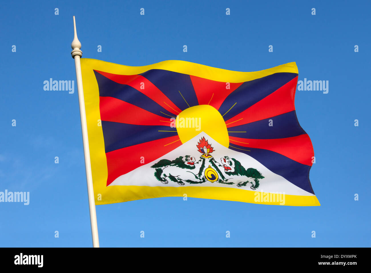 The Tibetan flag - Stock Image