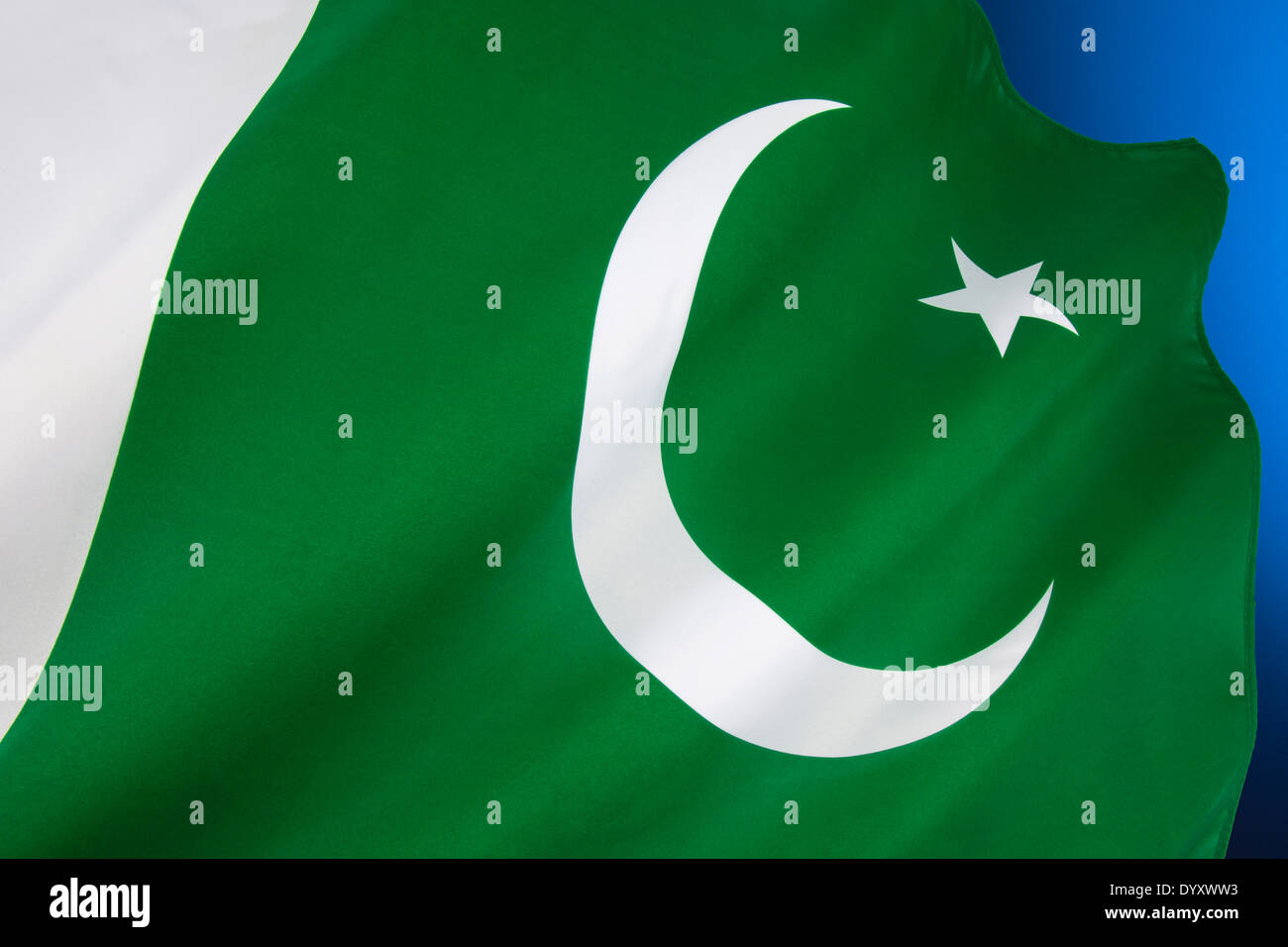 The national flag of Pakistan - Stock Image
