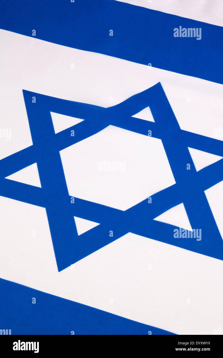 The flag of Israel Stock Photo