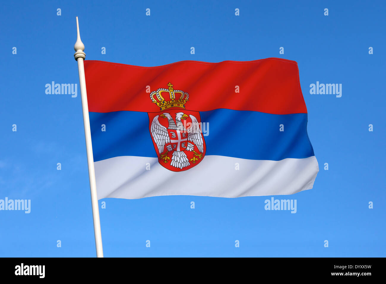 Flag of Serbia - Stock Image