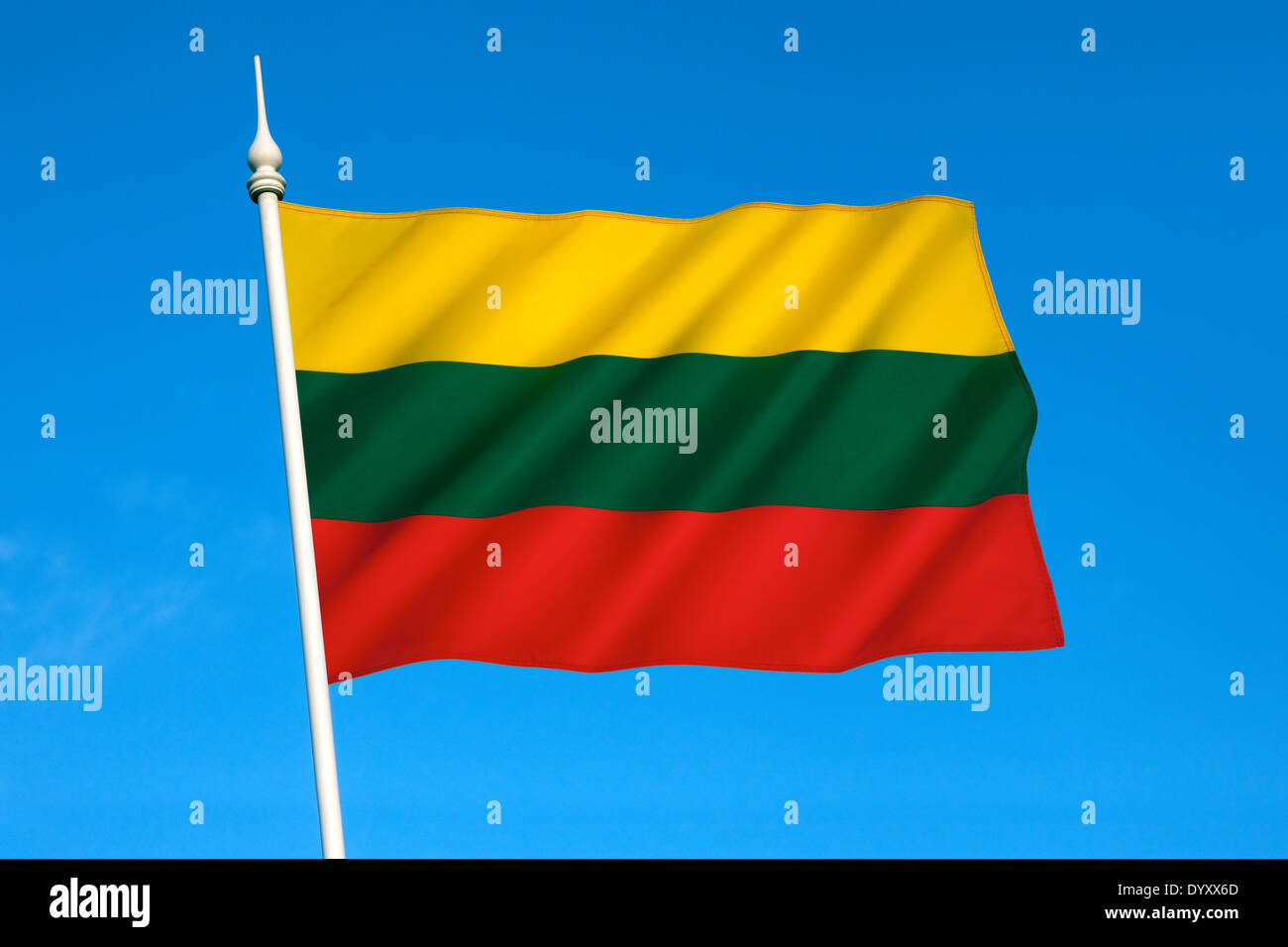 The flag of Lithuania - Stock Image