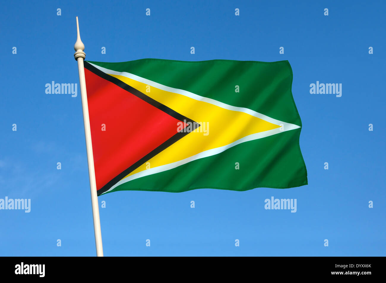 The flag of Guyana - Stock Image