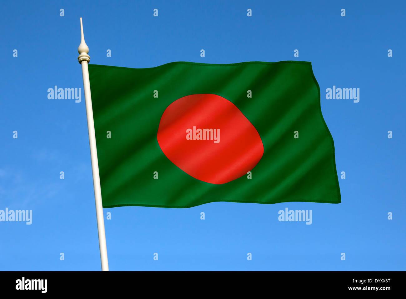 The national flag of Bangladesh - Stock Image