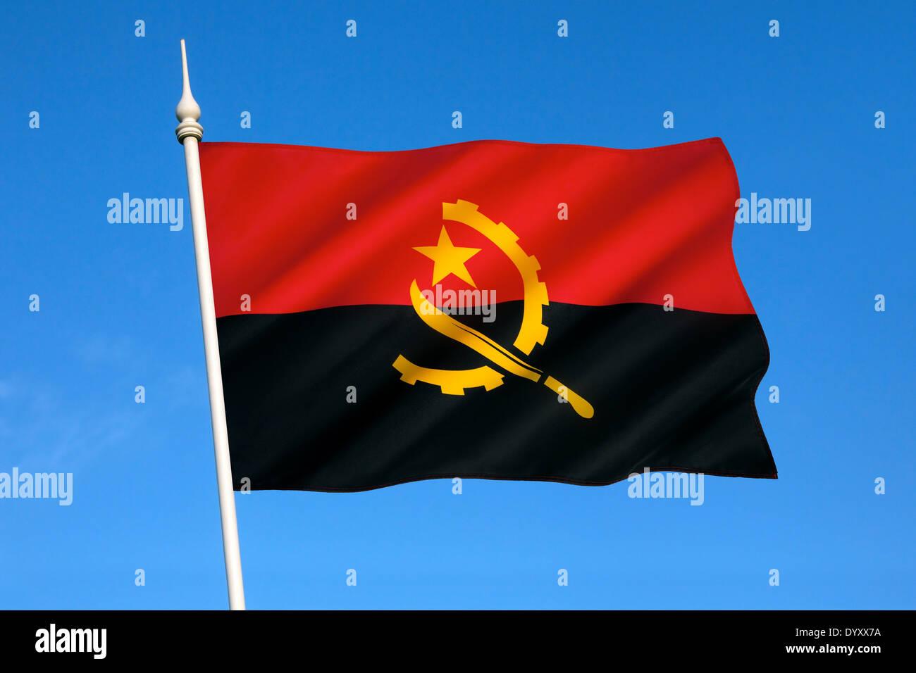 The national flag of Angola - Stock Image