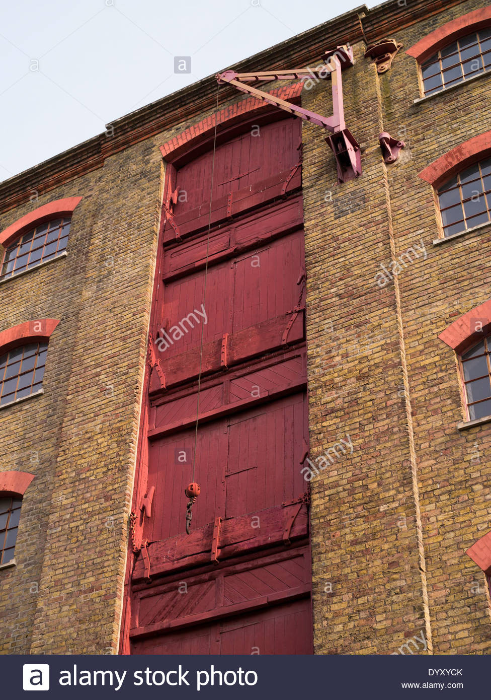 King Henry's Wharves within the Wapping Wall conservation area: East London. - Stock Image