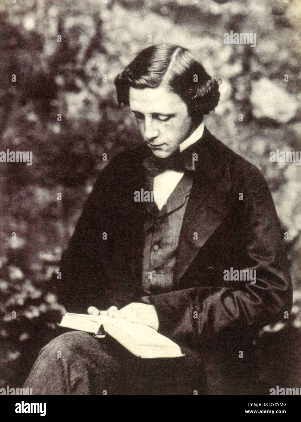 Lewis Carroll (1832-1898), English author, mathematician and photographer. Born Charles Lutwidge Dodgson, he adopted the pen name Lewis Carroll publishing Alice's Adventures in Wonderland in 1865. - Stock Image