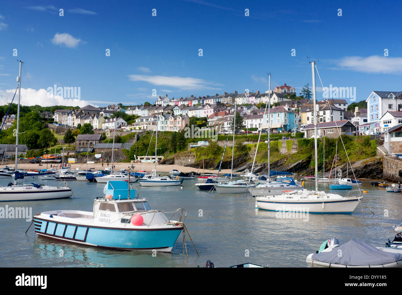 New Quay Cei Newydd Cardigan bay Harbour and town Mid Wales UK - Stock Image