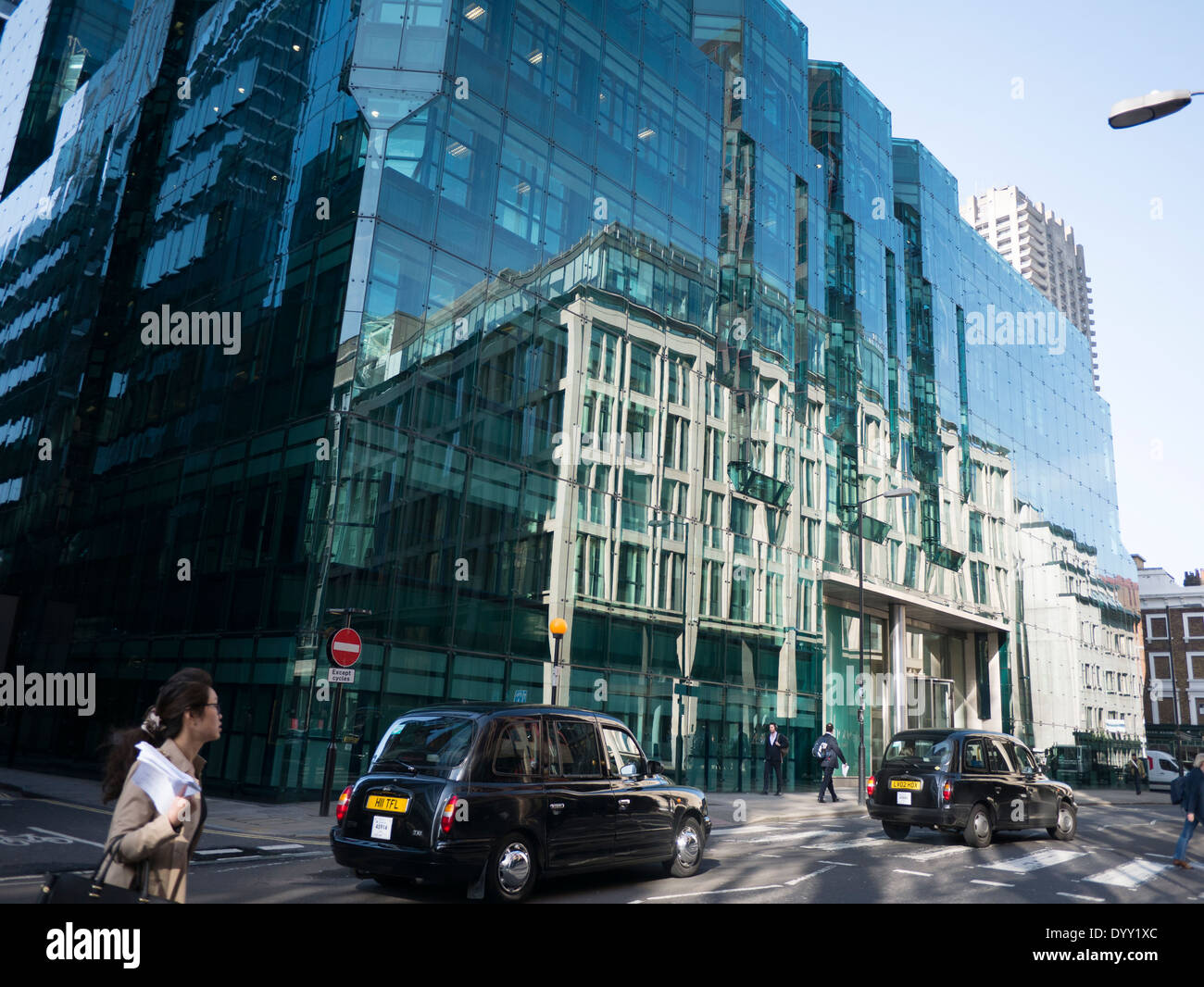 Milton Gate office block Chiswell street London - Stock Image