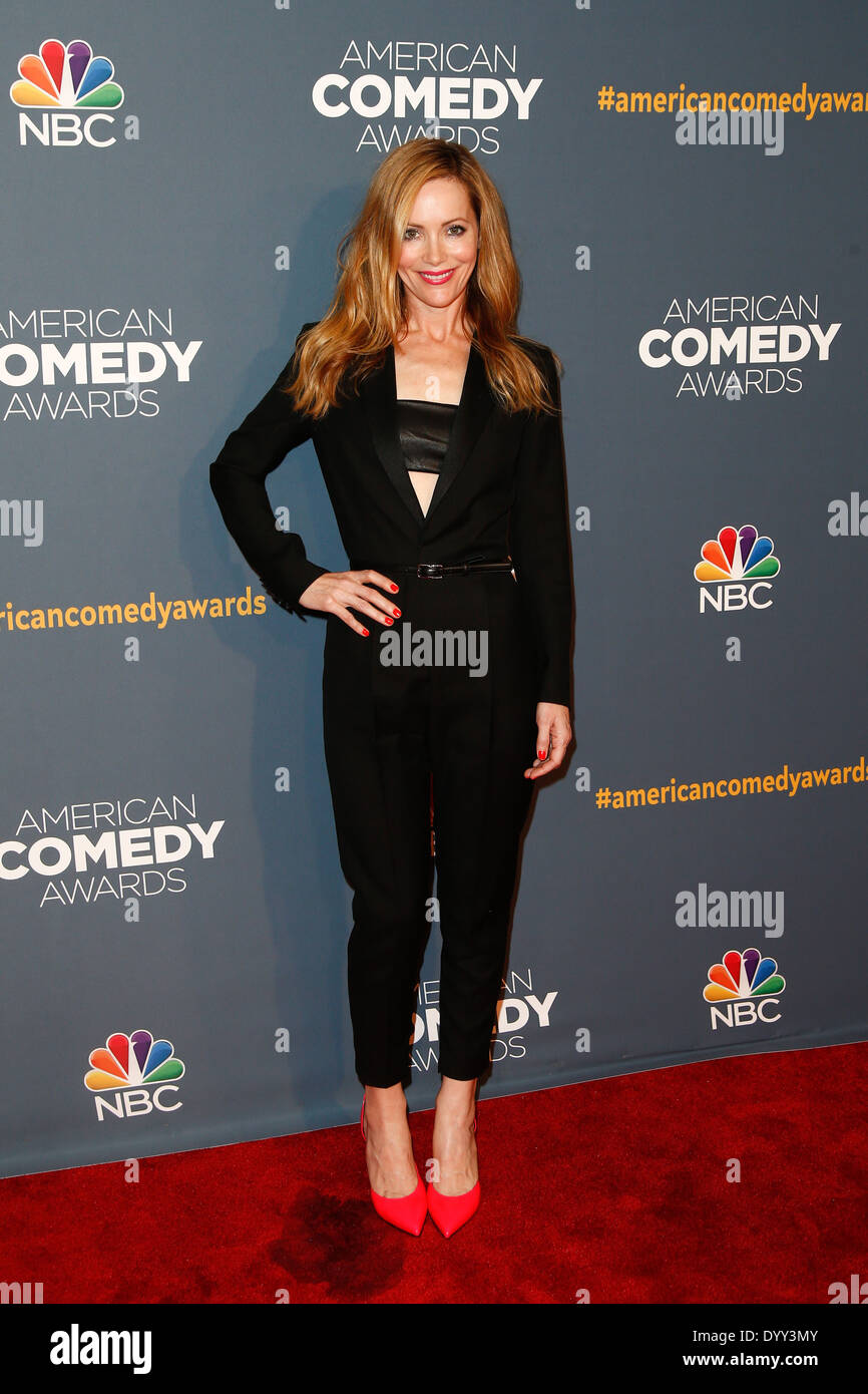 Actress Leslie Mann attends the American Comedy Awards at the Hammerstein Ballroom on April 26, 2014 in New York City. - Stock Image